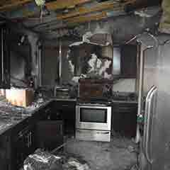 Massive Fire Damage Within The Interior Of The Home